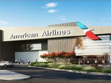 A rendering of the proposed flight kitchen for American Airlines at DFW International Airport.