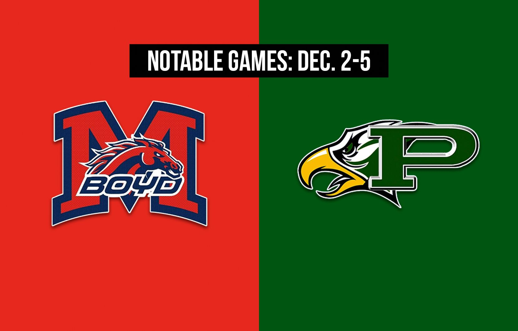 Notable games for the week of Dec. 2-5 of the 2020 season: McKinney Boyd vs. Prosper.