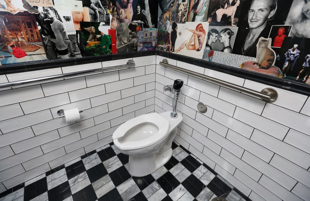 The bathroom at The Charles in Dallas on Friday, March 22, 2019.  (Rose Baca/Staff Photographer)
