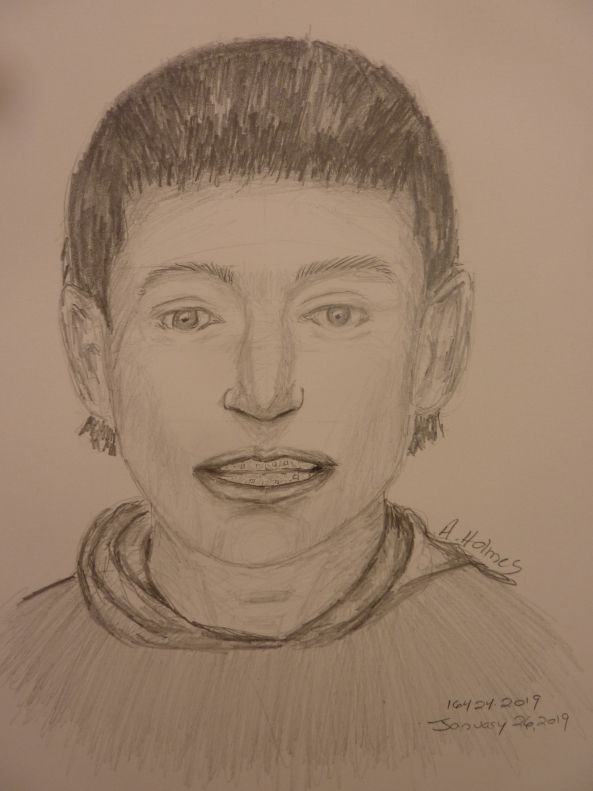Police released this sketch of the person suspected of shooting 18-year-old Joseph Pintucci in a northeast Dallas parking garage Thursday, Jan. 24, 2019.