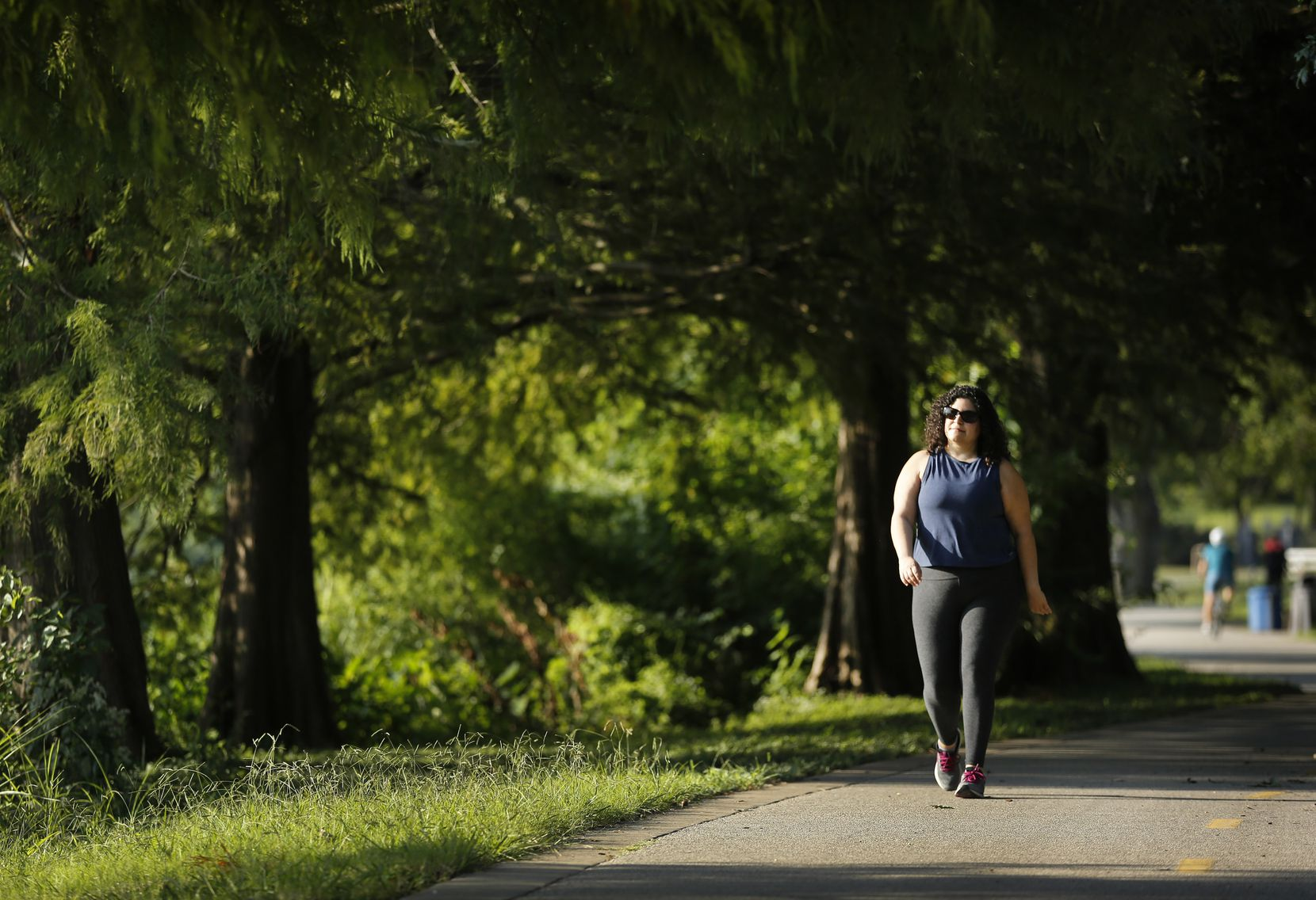 Assistant U.S. Attorney Nicole Dana says she finds solace at White Rock Lake, where she walks regularly and other times just sits to let off steam.