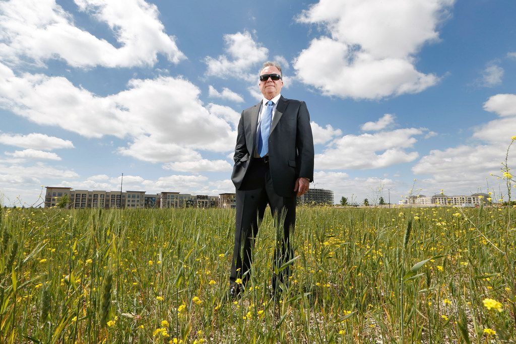 An overgrown field in Frisco will be the first vertiport, or take-off and landing site for flying taxis, in the Dallas area. Construction is expected to begin this fall, Hillwood Properties President Michael Berry said.