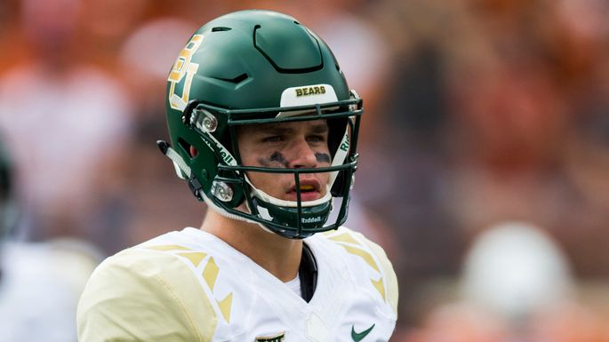 Baylor Bears quarterback Charlie Brewer (12) looks for the play call during the first quarter of a college football game between Baylor and the University of Texas on Saturday, October 13, 2018 at Darrell K Royal Memorial Stadium in Austin, Texas.