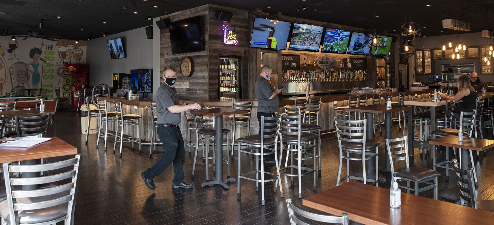 Co-owner Ridham Bhatt and his restaurant bar The Brass Tap in Rockwall, on Saturday, Sept. 19, 2020. The Brass Tap will be opening Monday Sept. 21, 2020. The restaurant will open Monday Sept. 21st. Ben Torres/Special Contributor