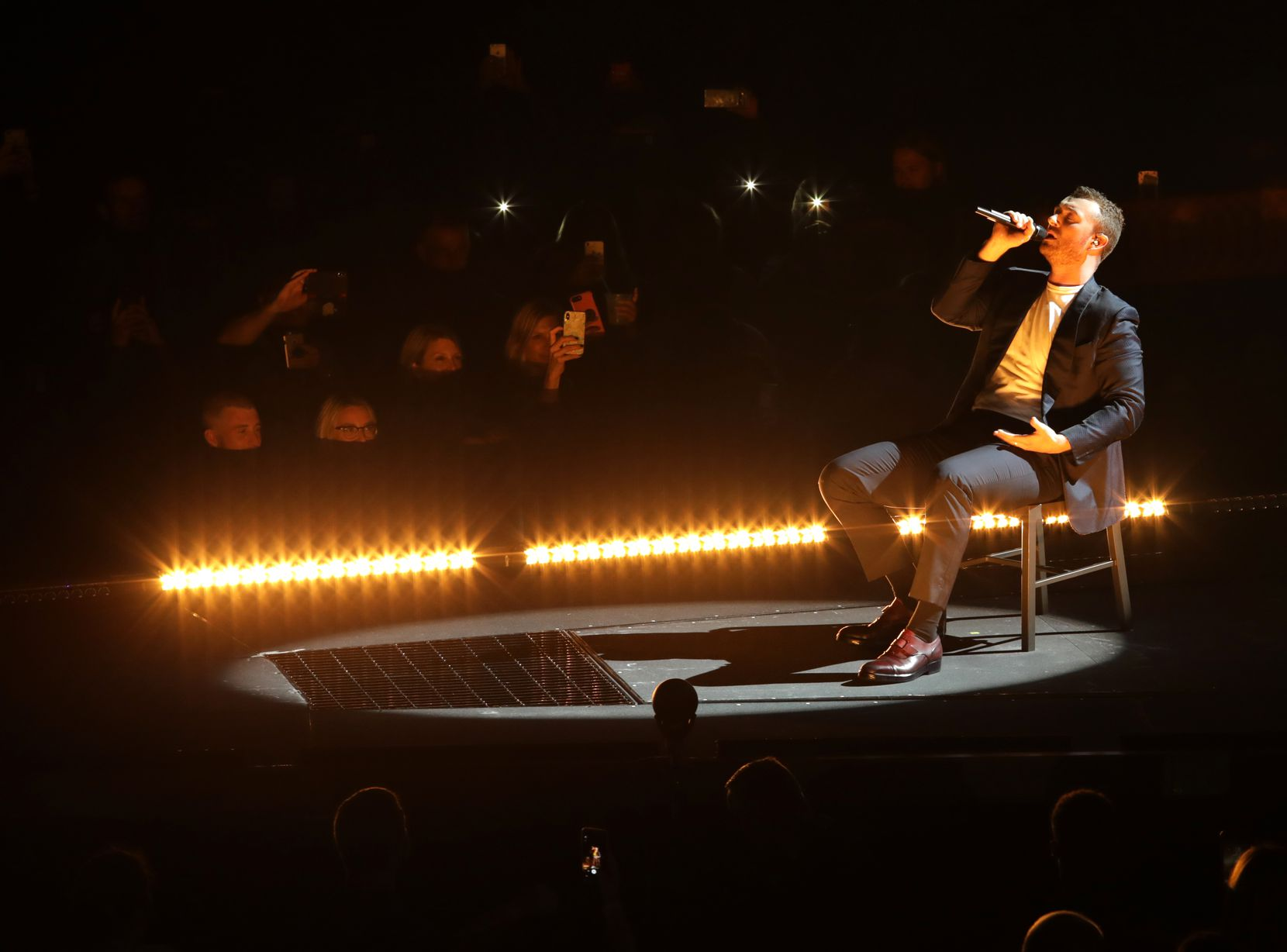 Sam Smith performs at American Airlines Center in Dallas on July 20, 2018.