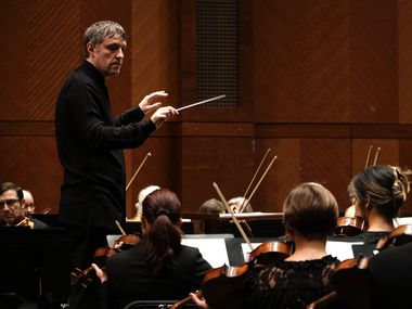 Yaniv Dinur conducts the Fort Worth Symphony Orchestra at Bass Performance Hall on Saturday, Feb. 1, 2020
