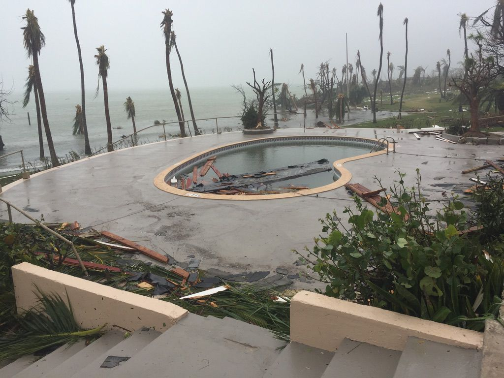 Damage at the Abaco Beach Resort in the Bahamas after Hurricane Dorian.