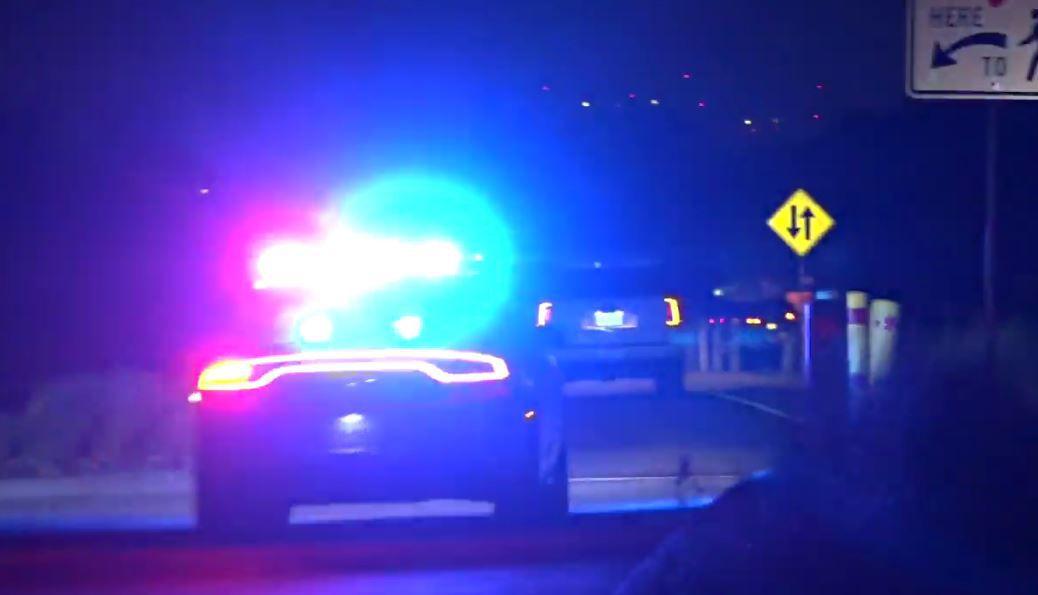 Image of flashing police lights.