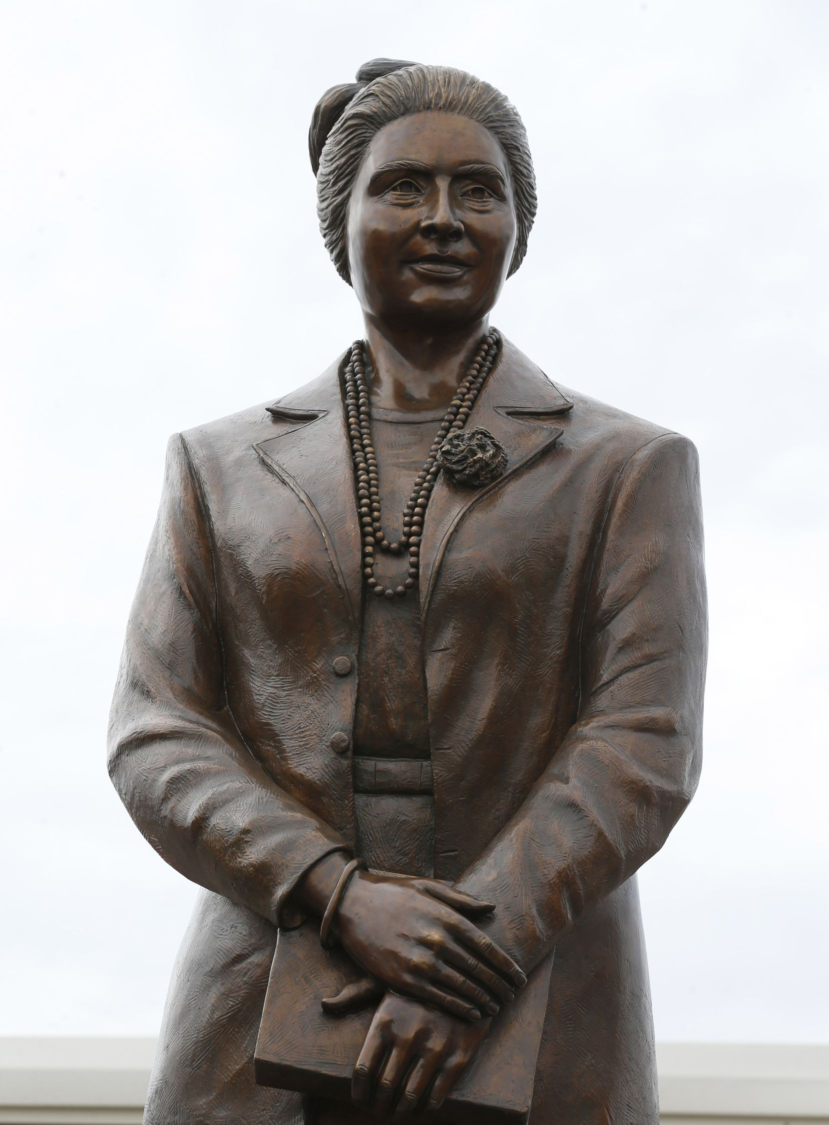 Adelfa B. Callejo statue by artist German Michel at a storage facility in Dallas on Wednesday, November 27, 2019. Adelfa Callejo was a fierce civil rights defender and lawyer who died nearly 6 years ago.
