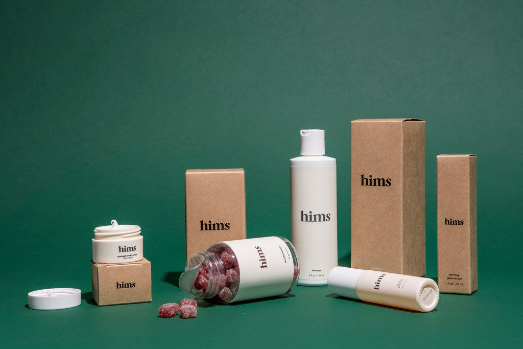 A line of of Hims vitamins. (Courtesy of Neighborhood Goods)