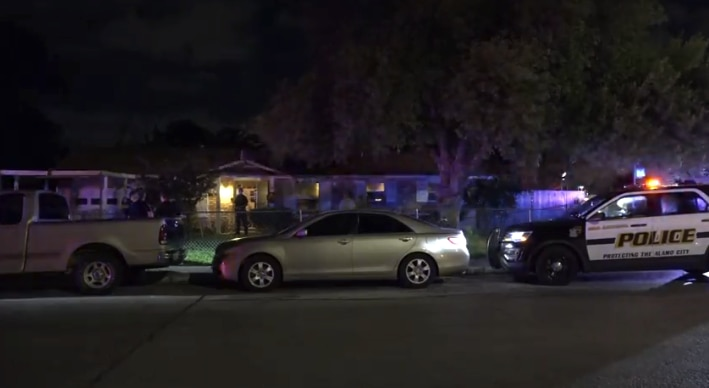 An image from footage captured by Metro Video San Antonio of a residence where San Antonio police say a 12-year-old was critically stabbed by his younger brother in an argument over a blanket.