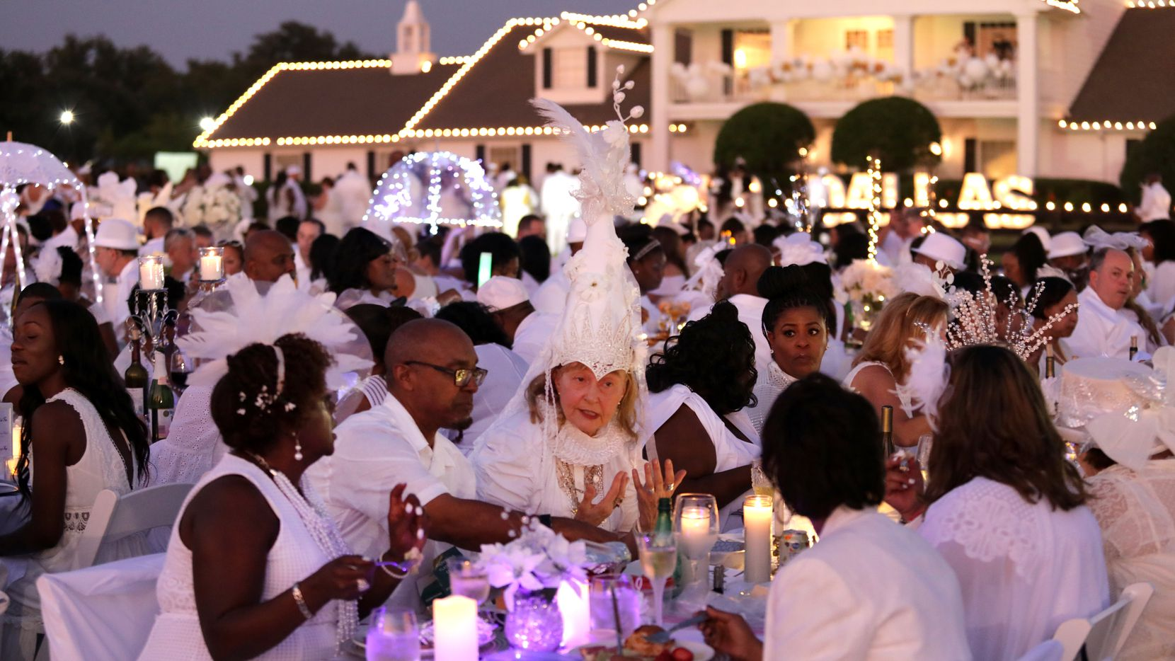 The Diner en Blanc event at Southfork Ranch in Parker, TX, on Oct. 5, 2019. (Jason Janik/Special Contributor)