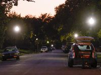 Park Row Avenue in the Grand Park South TIF District pictured on Friday, Oct. 15, 2021, in Dallas. South Dallas will receive $500,000 in lighting improvements as part of a public safety push.