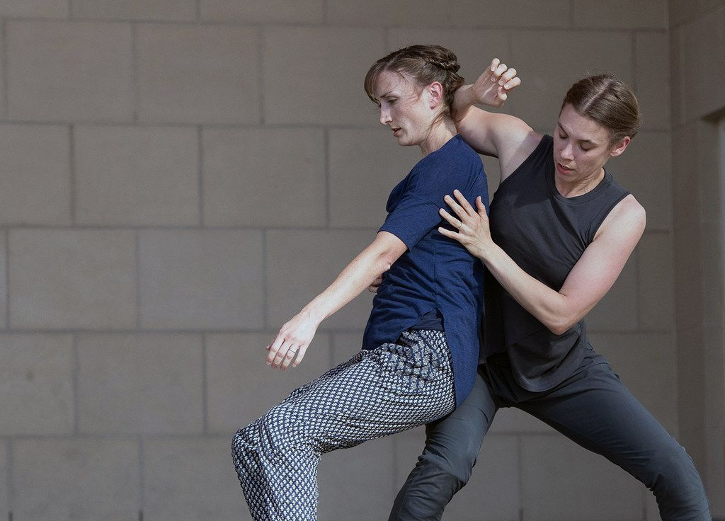 Big Rig Dance Collective's Crysta Caulkins-Clouse and Lily Sloan perform their duet You Are Not My Enemy at Tarrant County College. The dancer-choreographers, among the founders of the Denton company, will reprise the largely improvised piece at this year's Dallas Dances festival. (Tarrant County College)