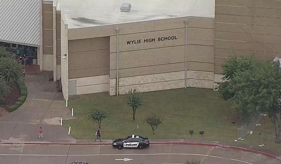 Wylie High School was locked down for about an hour Friday morning as police investigated reports of a possible armed suspect on campus.