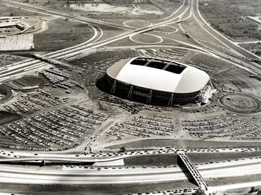 Texas Stadium, long before its implosion in 2010, is seen in this file photo from 1971. Irving hopes to fill the now-vacant site with mixed-use development.