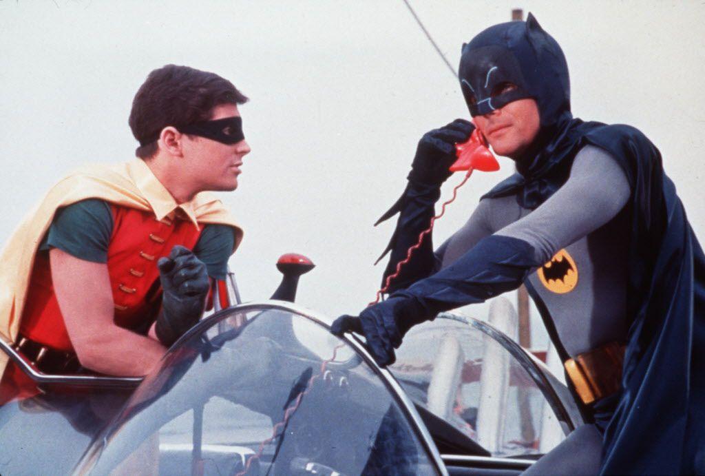 Burt Ward (left) and Adam West star as Robin and Batman in BATMAN - THE MOVIE