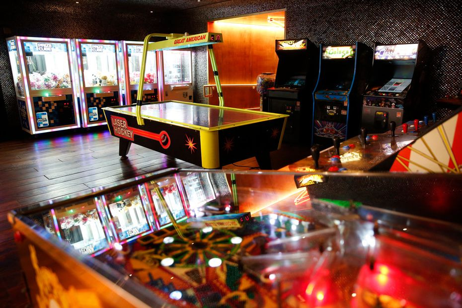 Throwback arcades give Hero customers something to do while they're waiting for a table or biding time before a game starts.
