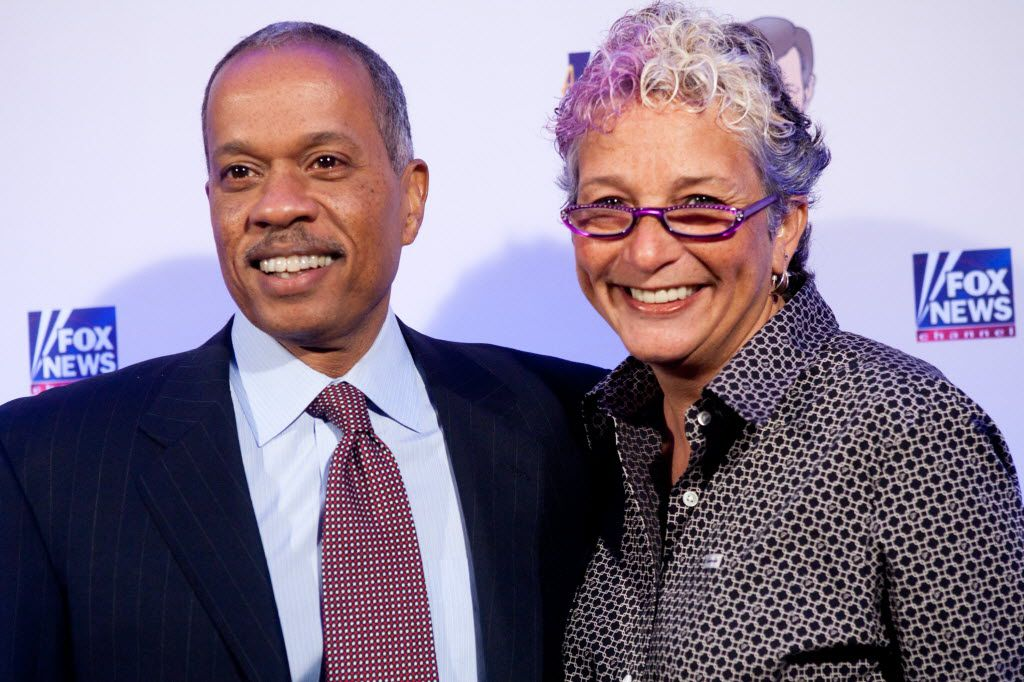 Fox News host Juan Williams, shown with his wife in 2009, made the statement recently that he has never been told by Fox management what he should say regarding any subject.