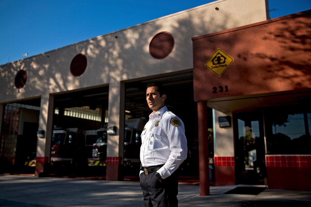 Doug McGlynn, a district chief, at Palm Beach County Fire Rescue Station 34, says incidents of keyless cars left running in garages became so numerous in Palm Beach County that his unit began handing out carbon monoxide detectors and reminder signs.