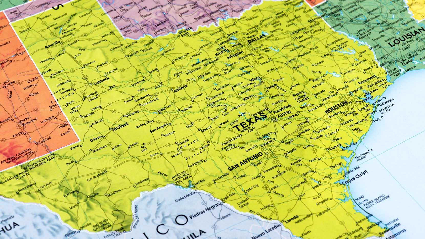 Map of Texas State.