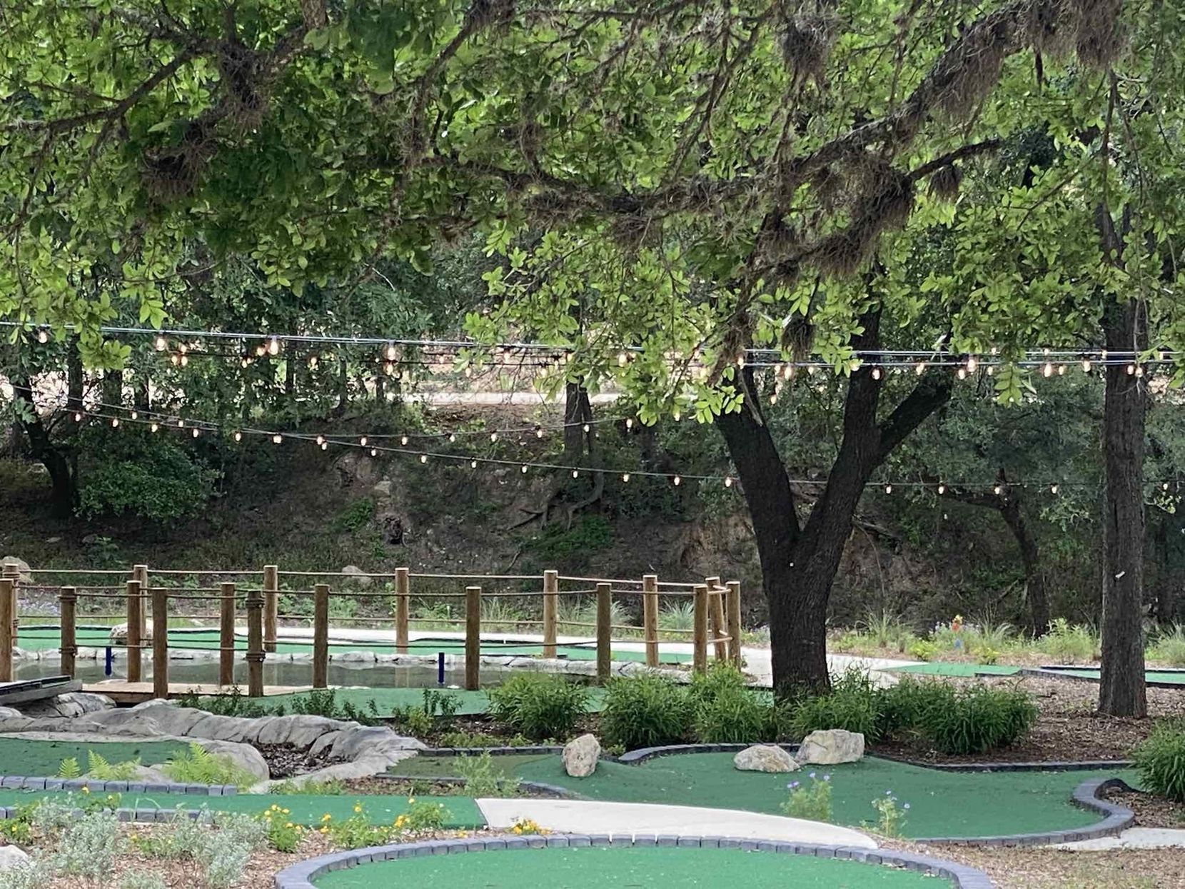 Mini-golf is one of the amenities at Camp Fimfo