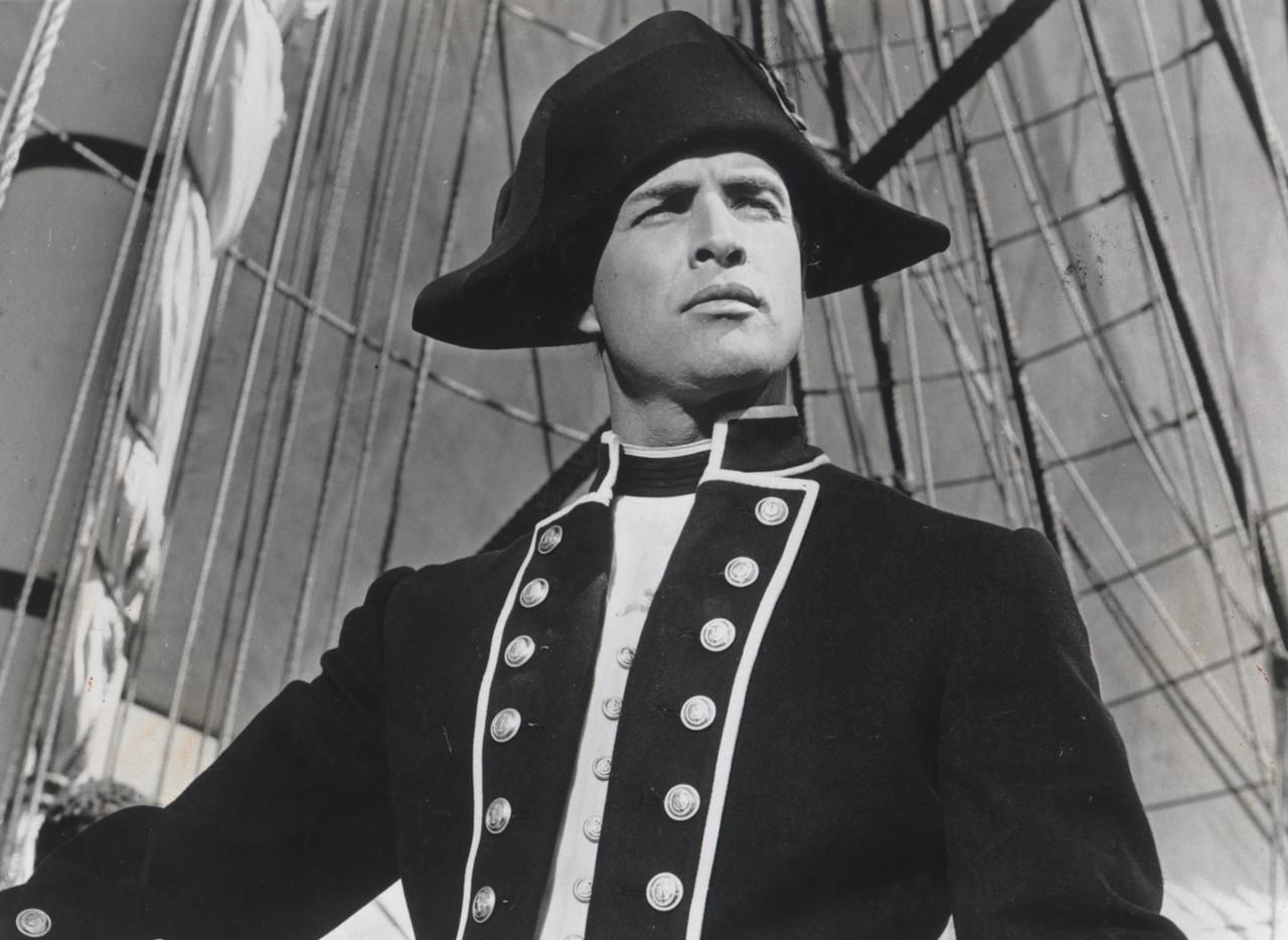 "Marlon Brando filming ""Mutiny on the Bounty."""