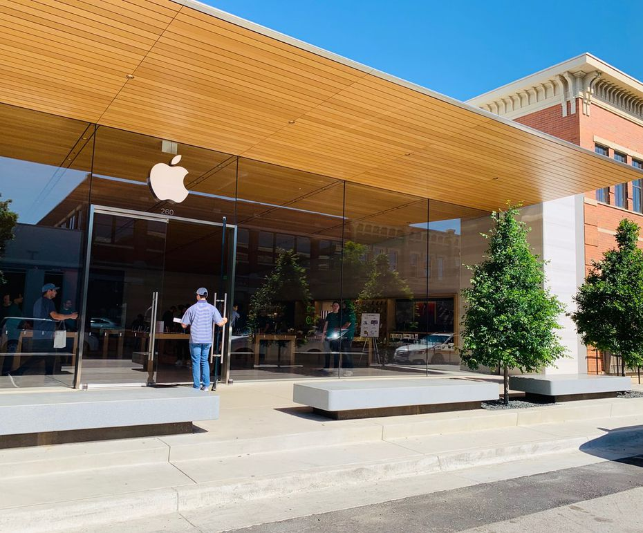 The new Apple Store at Southlake Town Square opened in November 2018.