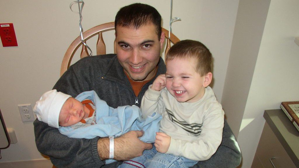 Nick Gonzales, pictured here with his sons, was diagnosed with a grade IV glioblastoma multiforme (GBM), an aggressive form of brain cancer at the age of 28.