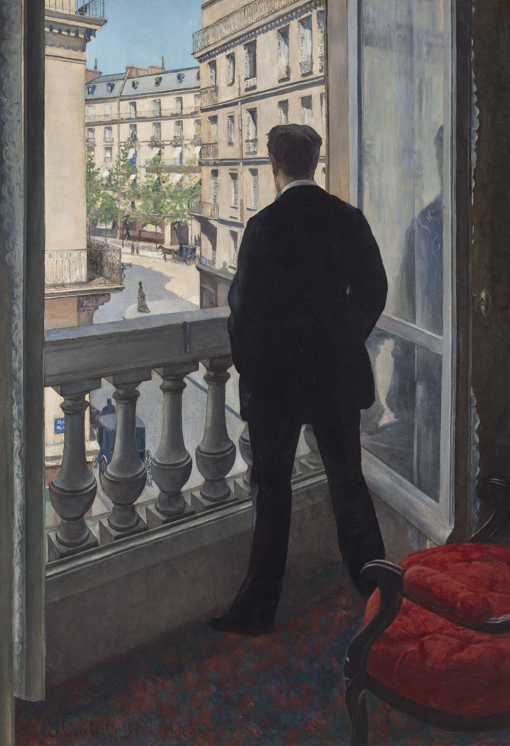 """Gustave Caillebotte's """"Jeune Homme à Sa Fenêtre,"""" which Christie's expects to sell for more than $50 million at its auction in November."""