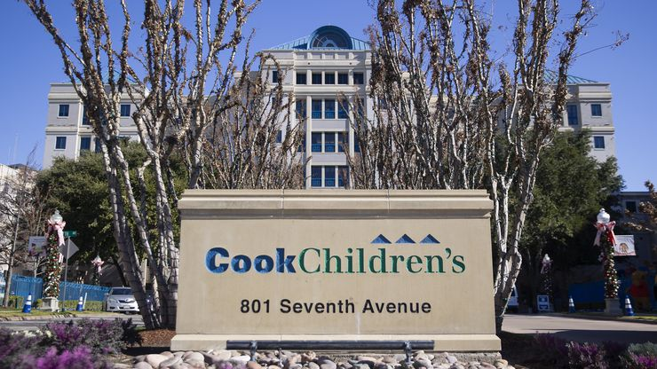 Cook Children's Medical Center in Fort Worth is reporting a surge in cases of COVID-19.
