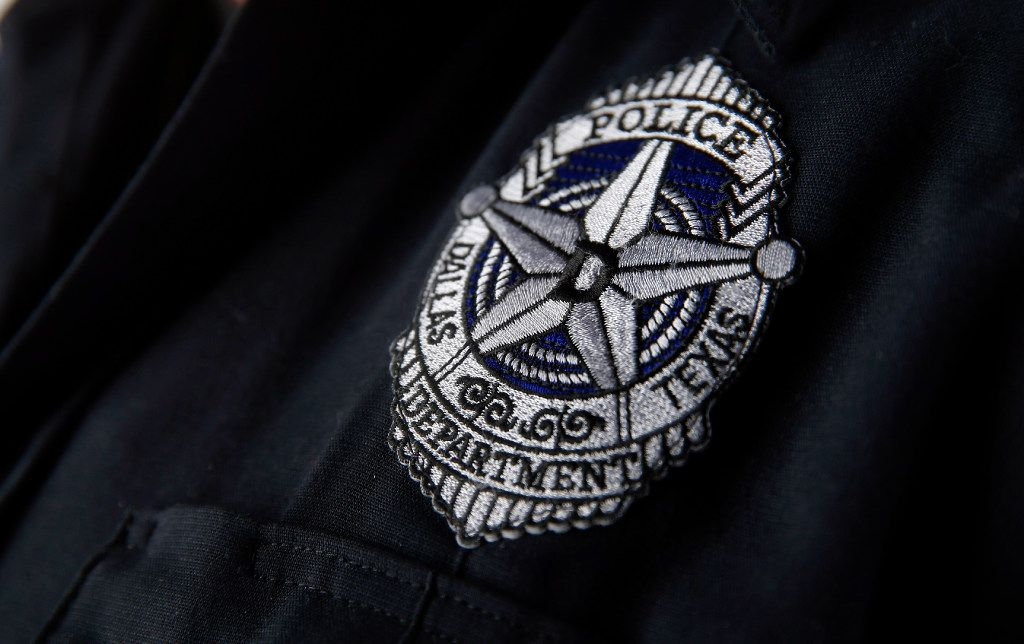 Dallas Police Department patch in the studio, Wednesday, June 28, 2017. (Tom Fox/The Dallas Morning News)