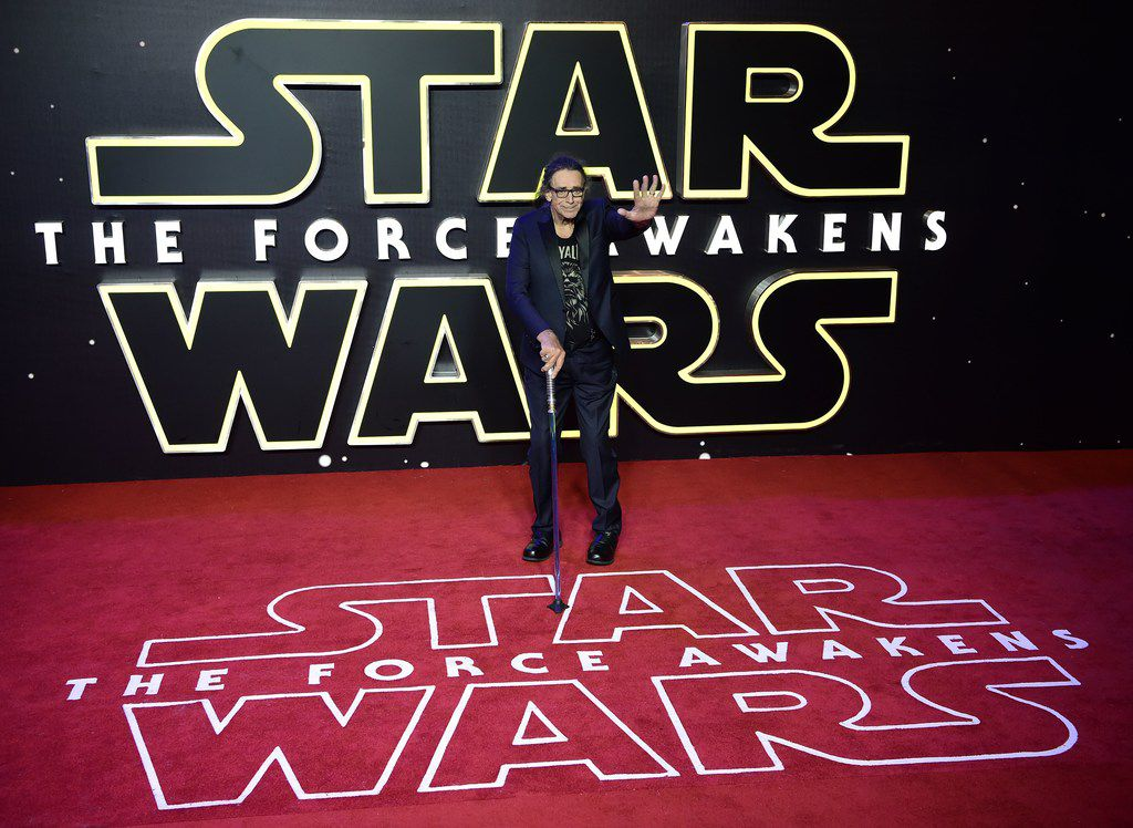 In this file photo taken on Dec. 16, 2015 actor Peter Mayhew attends the opening of the European Premiere of Star Wars: The Force Awakens in central London.
