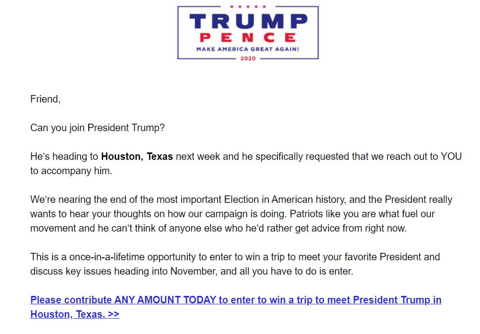 Trump campaign stops planned for next Wednesday to Dallas and Houston were focused on fundraising, said one GOP operative in Texas familiar with the plans.