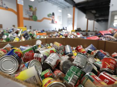 The North Texas Food Bank receives food through a federal program that distributes millions of pounds of food products based on census data.