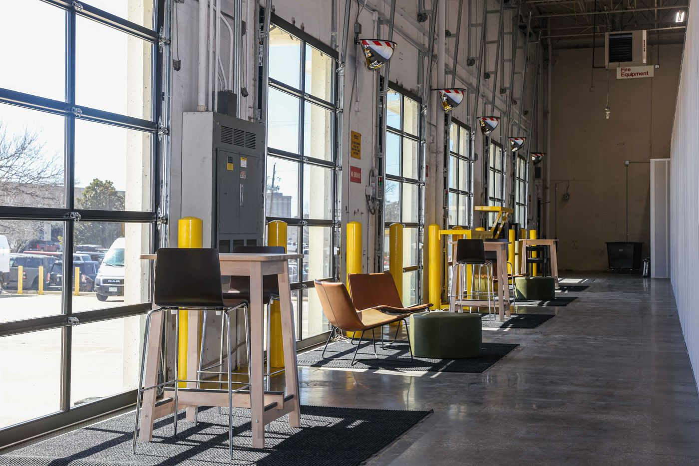 SaltBox offers warehouse space, mostly for small independent businesses, plus shipping services and even a photo studio in Farmers Branch, Texas on Wednesday, March 3, 2021. (Lola Gomez/The Dallas Morning News)