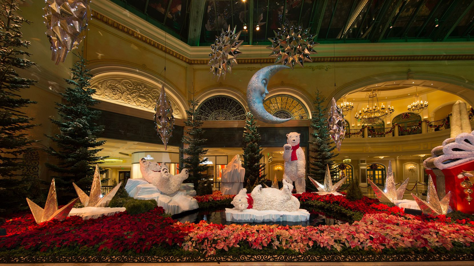 Bellagio in Las Vegas goes all out for the holidays, as in this 2018 display.