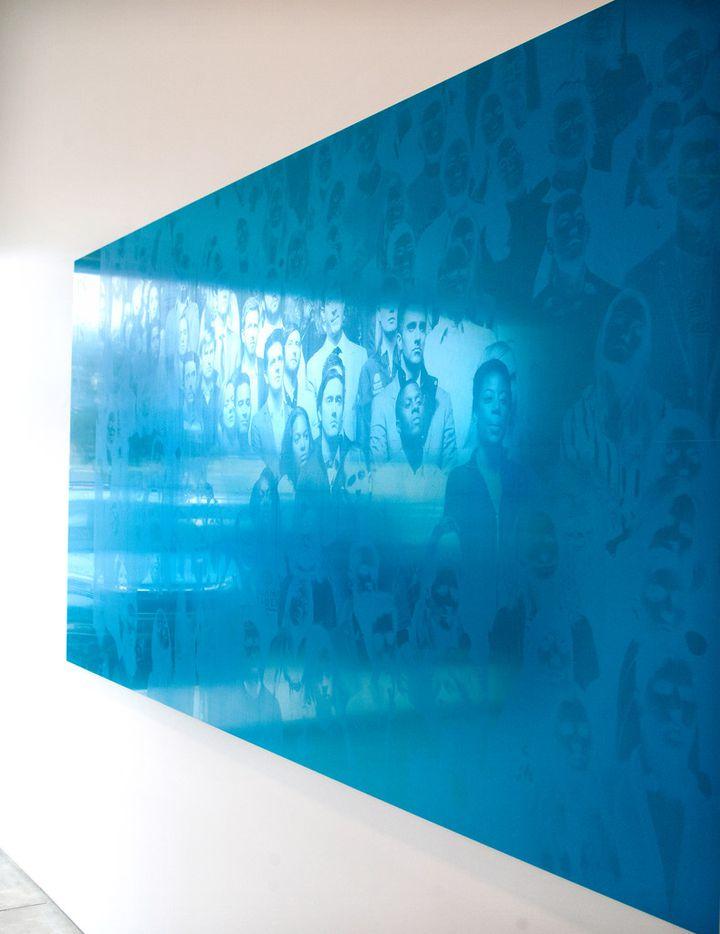 Emmanuel Van der Auwera, 'Memento (Farewell, Blue), 2019; newspaper, 3mm aluminum offset plates mounted on aluminum frame
