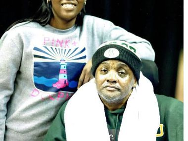 Baylor's Alexis Jones and her father, David Jones.