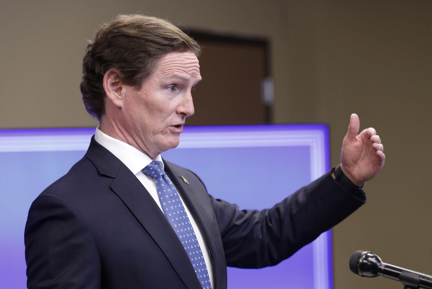Dallas County Judge Clay Jenkins speaks during a press conference Aug. 13, 2020. (Jason Janik/Special Contributor)