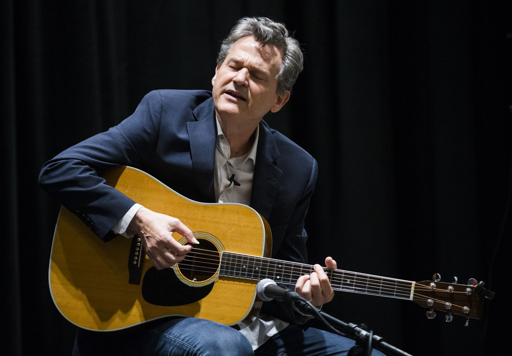 """Billy Crockett performs at a """"Duets"""" event at The Dallas Morning News on October 1, 2019."""