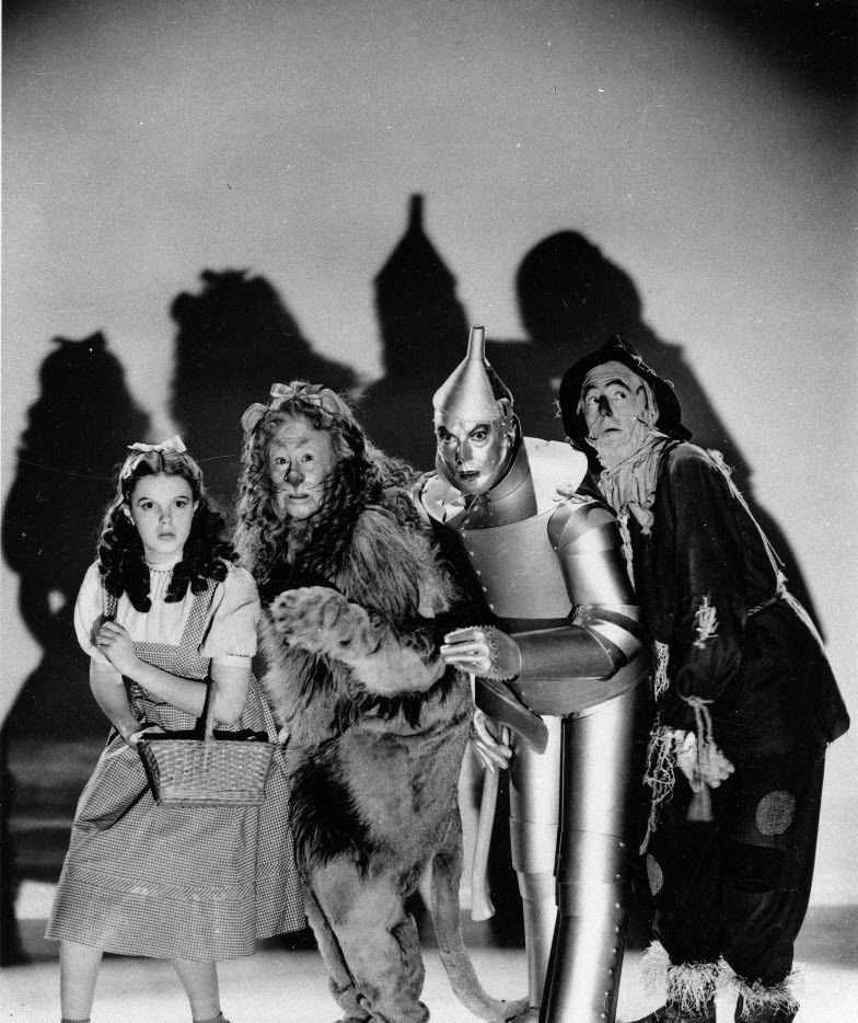 In this undated file photo, Judy Garland, Bert Lahr, Jack Haley and Ray Bolger are shown as they appeared in The Wizard of Oz, the classic two-hour movie that helped lead to Judy Garland's fame.