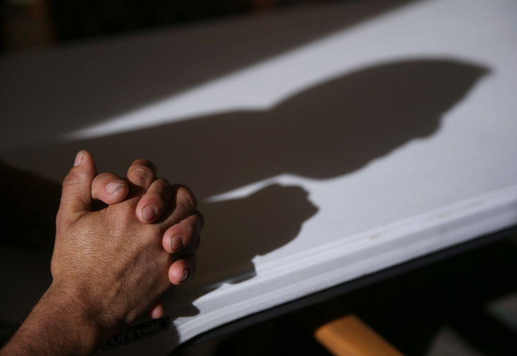 Carlos Joaquin Salinas, 27, of Santa Rosa, Guatamala, at an Annunciation House shelter in El Paso on Saturday, March 30, 2019.