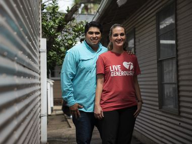 Roland Gonzalez, 36, and his wife Megan Gonzalez, 35, co-directors of Border Missions Inc. in Hidalgo on July 8, 2021.