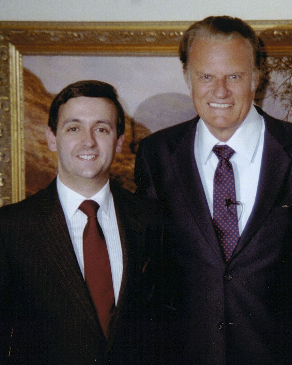 The Rev. Billy Graham in an undated photo with Dr. Robert Jeffress.