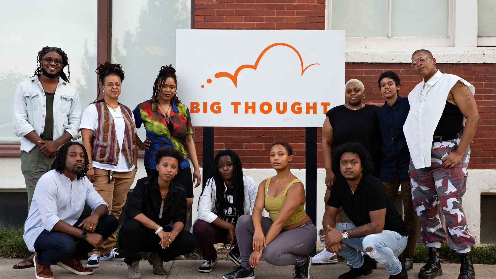 From left to right, top to bottom - Tro'Juan Henderson, T. Odis, Jer'Lisa Devezin, Gabby Elvessie, CRUSH Davis, Princess McDowell, McKinley Willis, Ciara Elle Bryant, Gabriel Sheffield, Syd Loving and Niecee X are the curriculum writers and teaching artists that make up the Youth 2 Power team. The free, six-week summer camp for teenagers will center around community leadership, political education and art as a tool for social change.