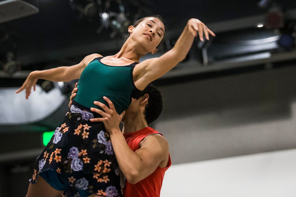 Amanda Fairweather and Adrián Aguirre rehearse for the upcoming debut of AKA:ballet, a summer dance project conceived by choreographer Carter Alexander.