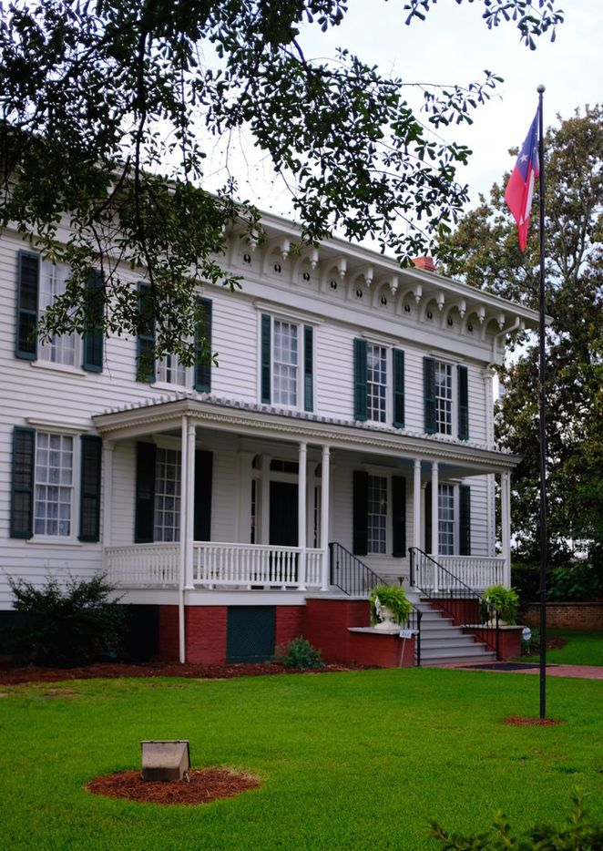 The First White House of the Confederacy, moved from its original location in Montgomery to a spot at the foot of the State Capitol.