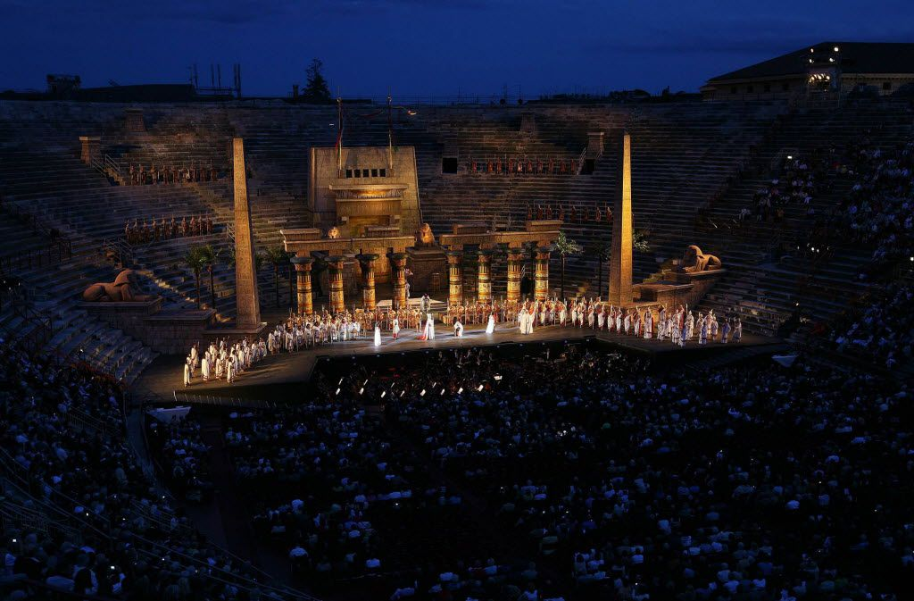 Opera performances are held at the nearly 2,000-year-old Arena di Verona, which dates to Roman times.