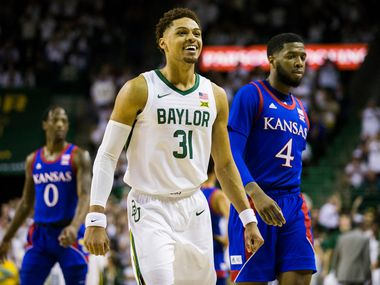 Baylor Bears guard MaCio Teague (31) smiles during the first half of an NCAA men's basketball game between Baylor University and Kansas University on Saturday, February 22, 2020 at Ferrell Center on the Baylor University Campus in Waco.